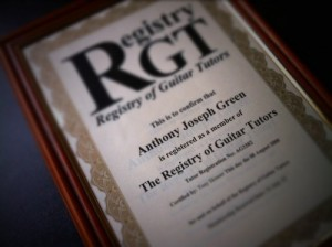 AJ Green Registry of Guitar Tutors
