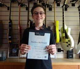 Grade 6 Distinction For Matthew In Guitar Exam