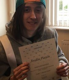 Rockschool Grade 7 Distinction for Jordan